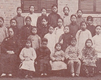 "Ca. 1920s ""Matron & Pupils"" Changsha, China Topographical Picture Postcard - 960"