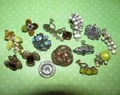 Vintage High End Single Earrings For Parts Crafts AB Rhinestone Juliana Destashed
