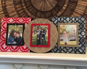 Gallery Wall, Set of 3 Frames, Distressed Picture Frames, Photo Collage, 8x10 Frames, Set of 3 Frames