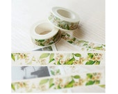 DIY Removable Adhesive Masking Deco Washi Tape - Lily Flower (1.5 cm Width)