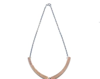 SALE // 40% off // two piece necklace // bronze