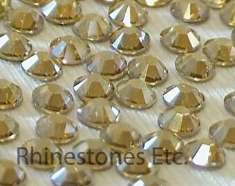 Golden Shadow 12ss Swarovski Elements Rhinestones HOT FIX 36 pieces
