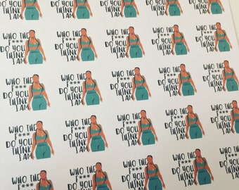 H4 Who the F*** Do You Think I Am? Lemonade Beyhive Stickers!