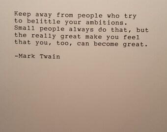 Mark Twain typed quote