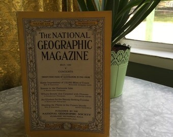 May 1930. Vintage Magazine, National Geographic, Vintage Photography, Vintage Photos