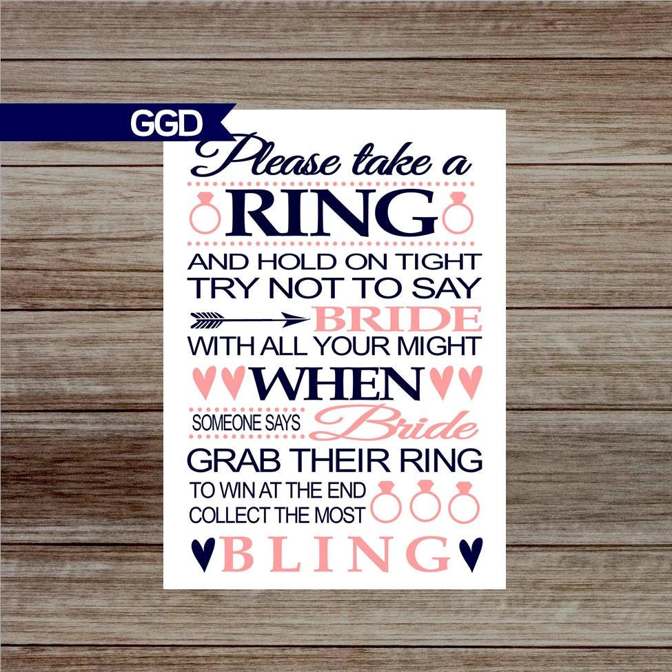 INSTANT DOWNLOAD Bridal Shower Game Ring Game Printable
