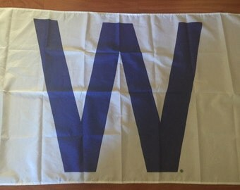 Chicago Cubs W Flag WIN 3 X 5 Feet  Flag Banner  Baseball Fan Decor