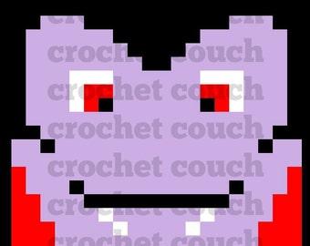 C2C Graph, Dracula Square, C2C Graph,  Written Word Chart, Halloween Graph, Halloween C2C, dracula graph, dracula c2c