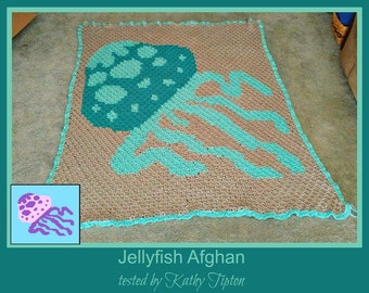 C2C Graph, Jellyfish Afghan, C2C Graph, and Written Word Chart