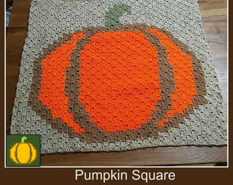 C2C Graph, Pumpkin Square, C2C Graph,  Written Word Chart, pumpkin Graph, pumpkin C2C, pumpkin graph,