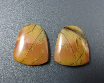 SALE Gorgeous  pair Cherry creek jasper  cabochon , Earring pair S6574