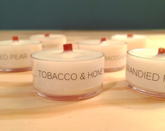 Soy Wood Wick Tealight Samples