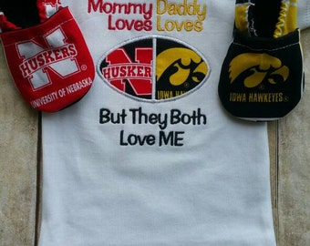 College house divided shirt and booties