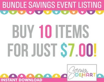 Clipart Sale Bundles and Digital Paper Buy ANY 10 Items Sale Royalty Free Clip Art - Instant Digital Download
