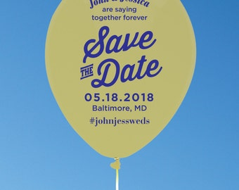 Custom balloon save-the-dates for weddings and other special events