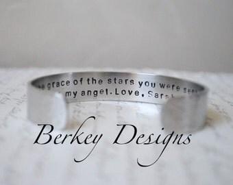Secret Message Sister Cuff Bracelet