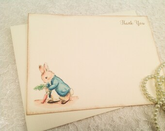 Peter Rabbit Cards-Thank you notes-Baby Shower Gift ideas-Set of 10