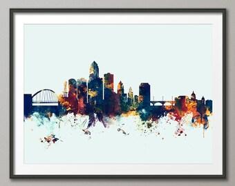 Des Moines Iowa Skyline, Art Print (2425)