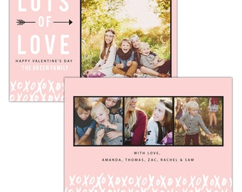 INSTANT DOWNLOAD - Valentine Photocard Template - e1188