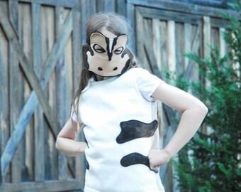 Western Toad Costume - Mask, Vest, Mask & Vest Combo