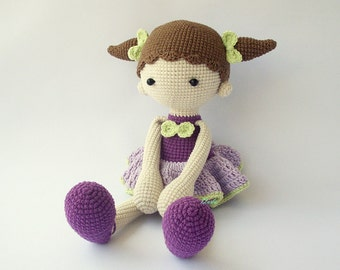 PDF Didi doll, Balerina doll, Crochet Pattern - Doll Crochet Toy,  DIY tutorial
