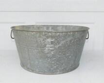 Galvanized Tub Wash Tub #0 Bucket Metal Handle Galvanized Metal Mop Bucket Galvanized Pail