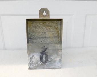 Vintage Industrial Metal Wall Bin # 6 Box Metal Storage Metal Decor