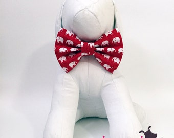 Red Elephant University of Alabama Roll Tide Dog Bow Tie