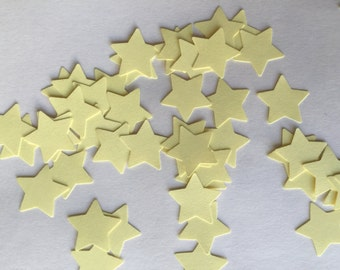Yellow Star. Die Cut. Punch Out. Embellishment