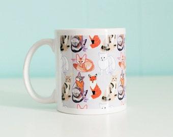 Fox Mug / Fox Species / Coffee Mug / 11 oz