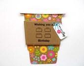 Happy BIRTHDAY Latte Gift Card Holder