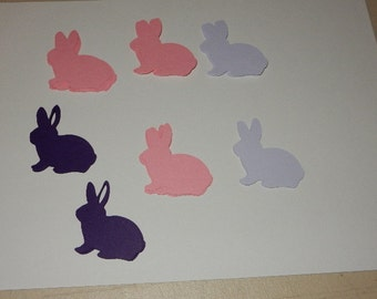 Paper Die Cuts: Pink & Purple Sitting Bunnies