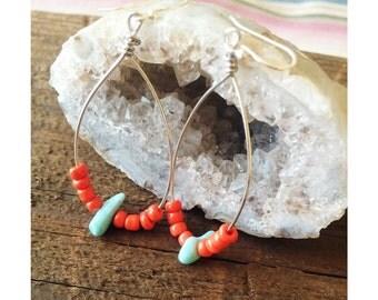 Deep Coral Earrings