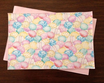 Easter Egg Place Mats, Pastel Easter Eggs, Decorated Eggs, Easter Decor, Set of 6 Place Mats