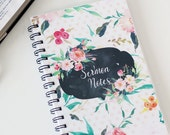 Sermon Notebook, Sermon Journal, Floral Cover Designs