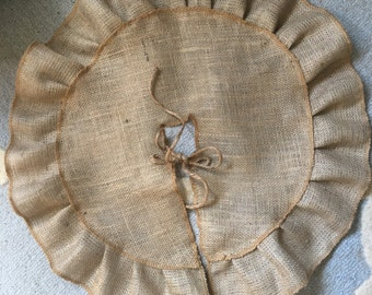 Burlap mini tree skirt