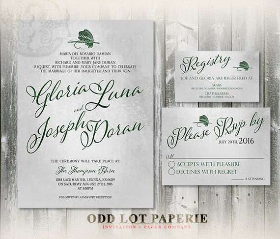 Fishing printable wedding invitation and rsvp fishing for Fishing wedding invitations