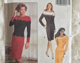 Butterick  Misses Sheath Dress Sewing Pattern 5138 Size 12 14 16  Uncut UC David Warren