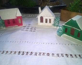 Price Drop 3 Vintage Putz christmas Houses