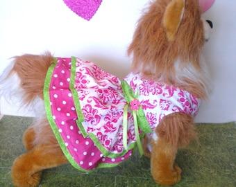 Dog dress, Pet dress, Dog clothes, Pet clothes, Dog pink dress, Dog accessories