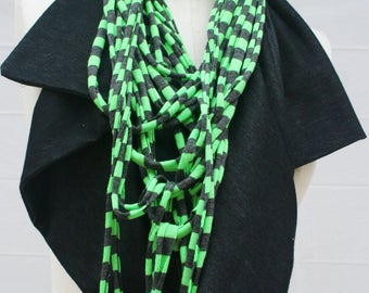 Unique Scarf, best selling shop, boutique Cowl Scarf, Necklace infinity Scarves, handmade gift under 20,  braided Scarf - By PiYOYO