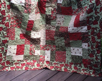 Fall Quilt, Autumn Quilt, Homemade Fall Quilt, blankets and throws, pheasant Quilt, Cabin Quilt