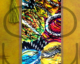 colorful Tennis artwork bookmark