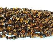 "Tiger Eye Chip Gemstone Beads - 35"" Strand"