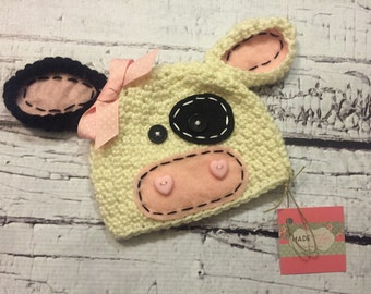 Millie Moo crochet hat