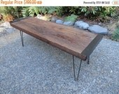 Last Chance Sale 10% OFF. 4 ft Industrial Bench from salvaged barnwood with hairpin legs