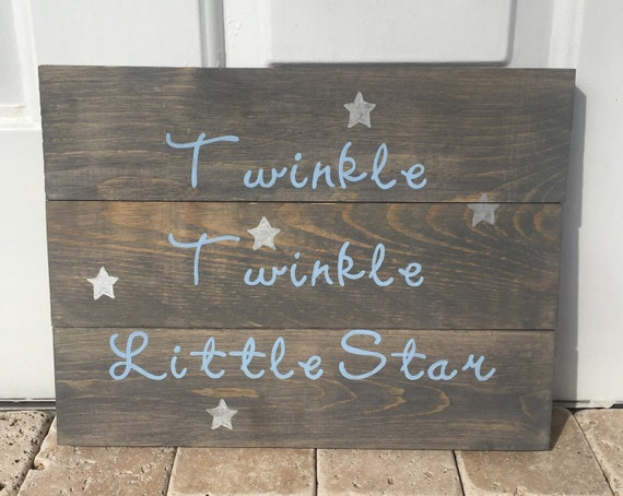 Nursery sign twinkle twinkle little star by for Signs for little girl rooms