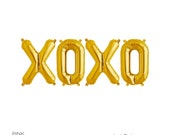 "XOXO Gold Mylar Balloons 16"" Inches"