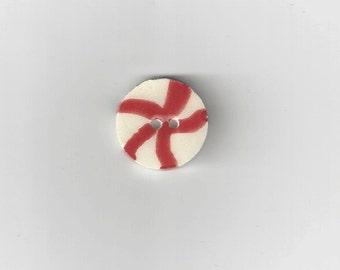 Clearance - Lg. Peppermint Candy Button by Mill Hill, #86196U