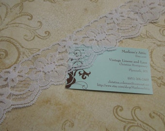 1 yard of 2 inch Light Purple Chantilly Lace trim for bridal, baby, lingerie by MarlenesAttic - Item 1K